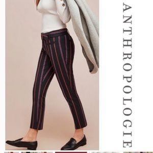 Anthropologie Essential Slim Striped Pants 4